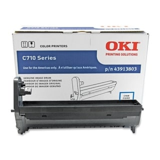OKI 43913803 Oki Cyan Image Drum For C710 Series Printers - 30000 Page - 1 Pack