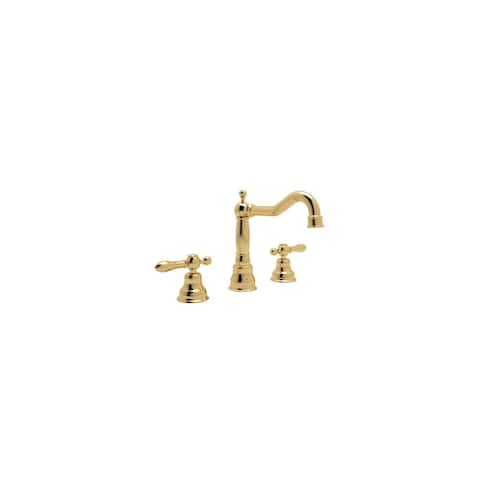 Rohl AC107LM-2 Cisal Widespread Bathroom Faucet with Pop-Up Drain and Classic Metal Lever Handles -