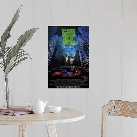 """""""Teenage Mutant Ninja Turtles The Movie (1989)"""" Poster Print"""