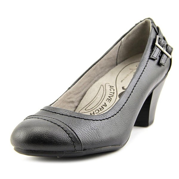 134cad8f312 Shop Life Stride Give Women Round Toe Leather Black Heels - Free ...