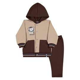 Baby Boy Outfit Hoodie Jacket and Pants Set Pulla Bulla Sizes 3-12 Months