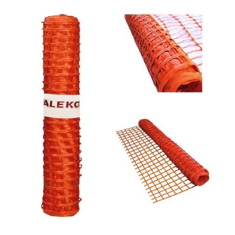 ALEKO Safety Fence Barrier 3x330 Feet PVC Mesh Net Guard Orange