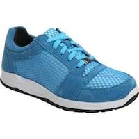 Drew Women's Gemini Walking Shoe Blue Suede/Mesh