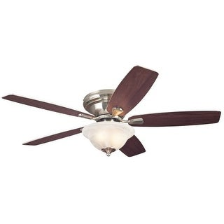 """Westinghouse 7247600 Sumter 52"""" 5 Blade Hugger Indoor Ceiling Fan with Reversible Motor, Blades, and Light Kit Included"""