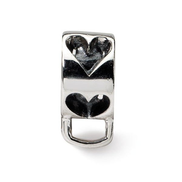 Sterling Silver Reflections Heart with Loop for Click-on Bead (4mm Diameter Hole)