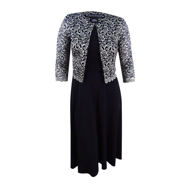 117cf74d48f3 Shop Jessica Howard Women's Petite Midi Dress And Lace Jacket (10P ...