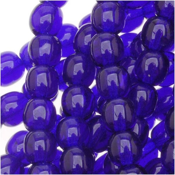 Czech Glass Druk 4mm Round Cobalt (100)