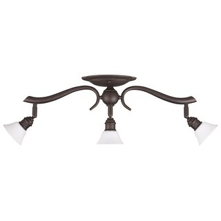 Canarm Addison 3 Light Track Light with Flat Opal Glass - Oil Rubbed Bronze - Oil Rubbed bronze