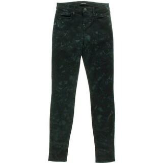 J Brand Womens Denim Printed Skinny Jeans
