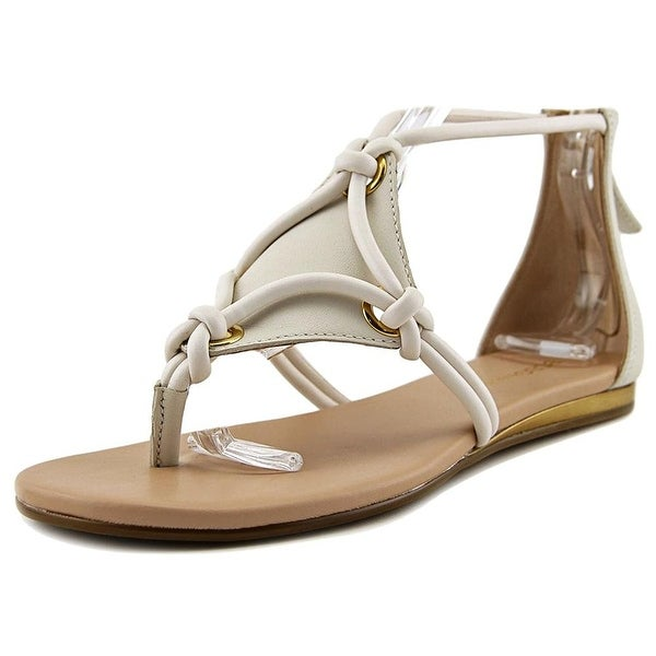 Womens Sara Leather Split Toe Casual Strappy chalk Size 8.5