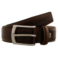 Renato Balestra CESARE Brown Brown Leather Mens Belt - 40
