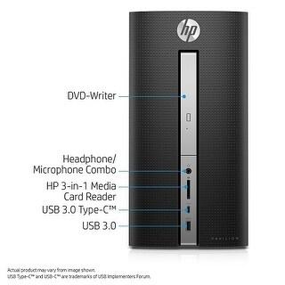 HP Pavilion Desktop - 570-p010 Desktop Computer