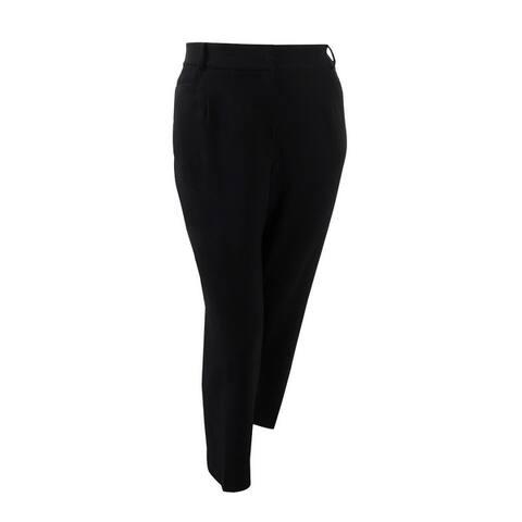 Tahari ASL Women's Plus Size Karina Straight-Leg Pants - Black