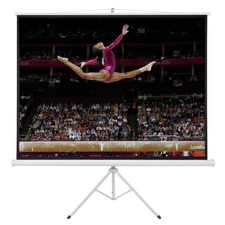Onebigoutlet Tripod 4:3 Compact Portable Projector Projection Screen Matte, White, 120-inch