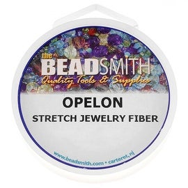 Beadsmith Opelon Floss Stretch Bead Cord - Make Stretchy Bracelets Fast - 82 ft.