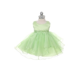 Chic Baby Lime Organza Ruffle Special Occasion Dress Baby Girl