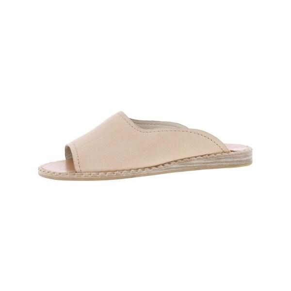 Dolce Vita Womens Poe Slide Sandals Leather Open Toe