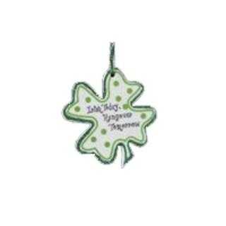 "Luck of the Irish ""Irish Today, Hungover Tomorrow"" Shamrock Christmas Ornament"