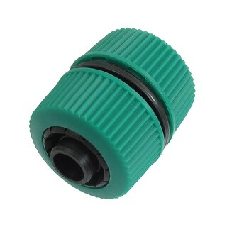 Unique Bargains Green Black Plastic 18mm-20mm OD 9mm Inner Diameter Hose Connector