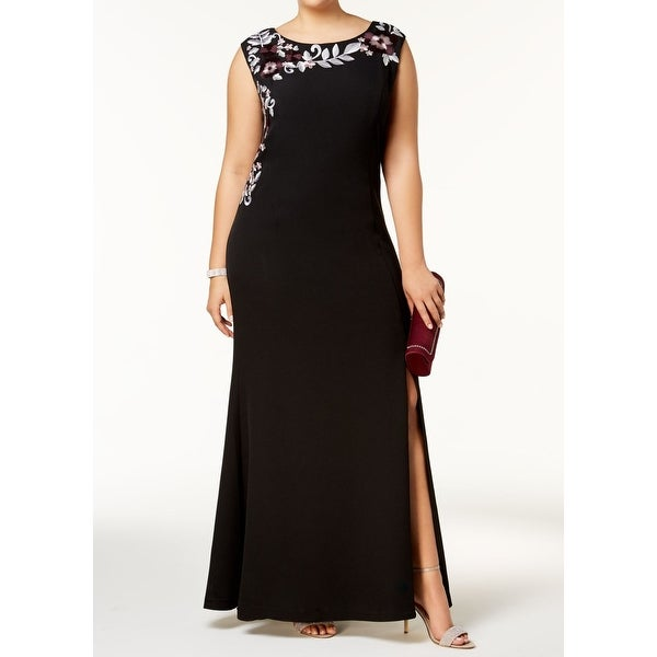 7103dc70085f3 Shop SLNY Black Womens Size 22W Plus Floral Embroidered Gown Dress - Free  Shipping Today - Overstock - 27006741