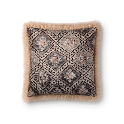 Alexander Home Mahi Geometric Faux Fur Pillow