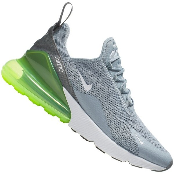 Nike Women's Air Max 270 Running Shoe Obsidian MistWhite lime Blast