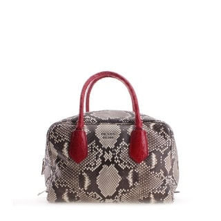 Prada Snakeskin Pattern Python Leather Inside Bage Tote Hangbag - M