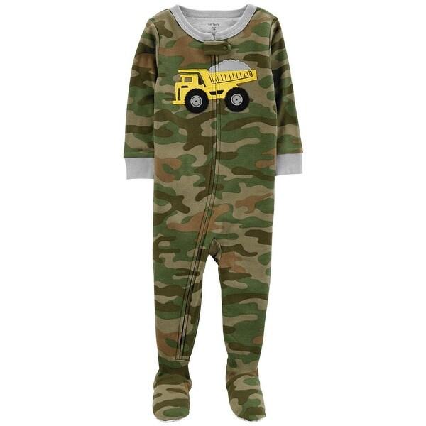Carters Boys 12-24 Months Truck Camo Sleeper - Green - 12 Months