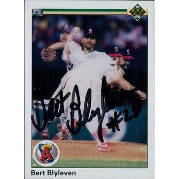 Signed Blyleven Burt California Angels 1990 Upper Deck Baseball Card Autographed