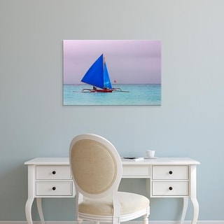 Easy Art Prints Keren Su's 'Sail Boat In The Ocean' Premium Canvas Art