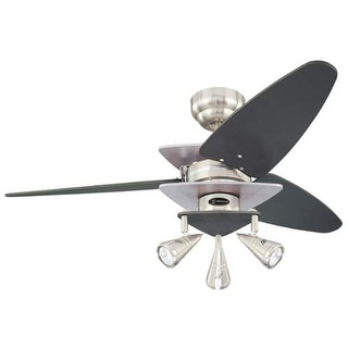 "Westinghouse 7850700 Vector Elite 42"" 3 Blade Hanging Indoor Ceiling Fan with Re"