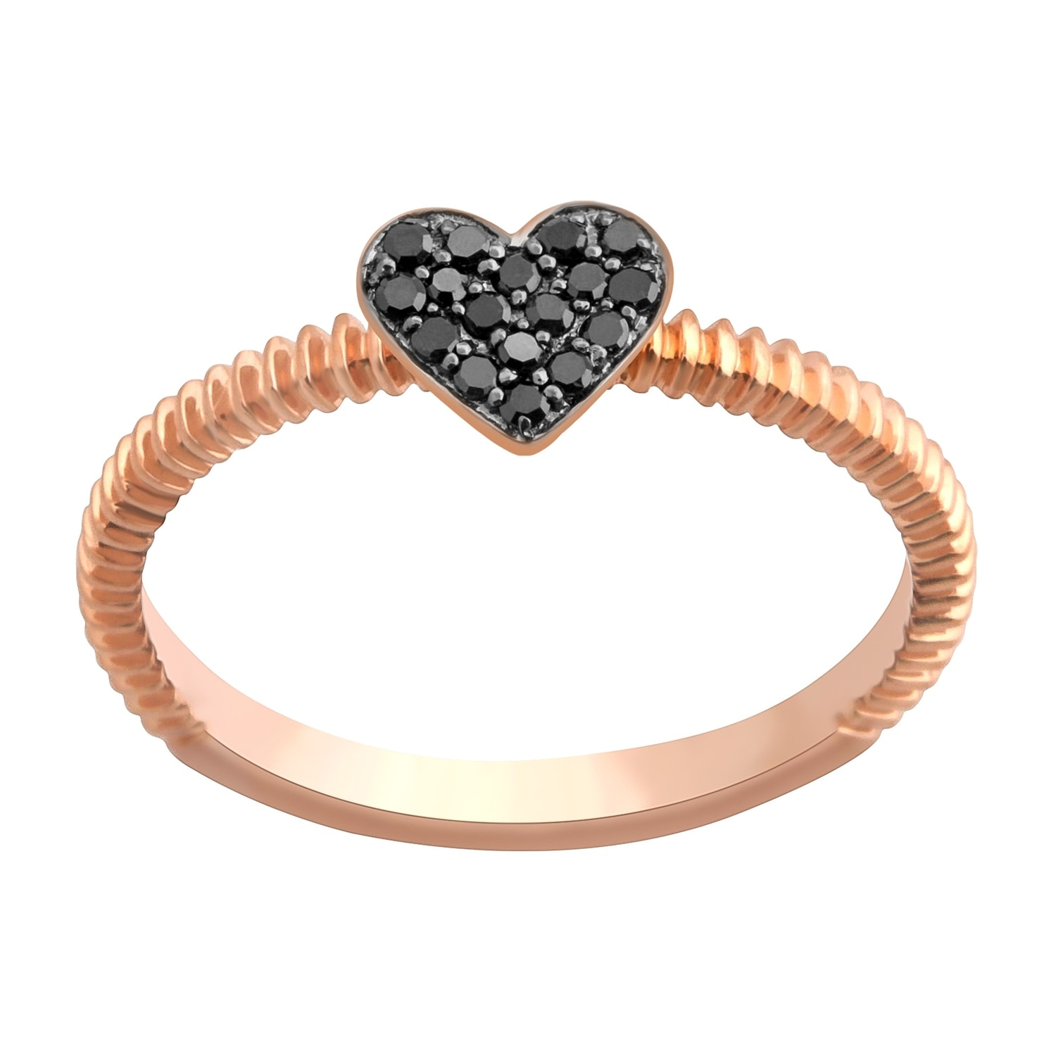 Prism Jewel Round Black Diamond Heart Shaped Valentine Ring - Thumbnail 0