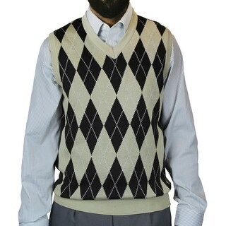 Big and Tall Men's Argyle Jacquard Sweater Vest