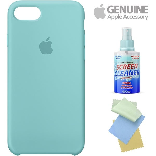 super popular 7c2a4 e9c6e Iphone 7 Silicone Case - Sea Blue With Free Cleaning Kit For  Iphones/Ipads/Imacs