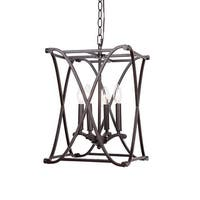 Antique Bronze Lantern 4-Light Chandelier Hall Foyer Fixture