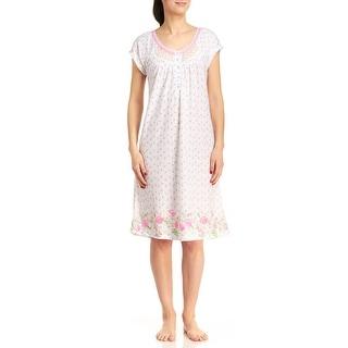 Body Touch Plus-Size Women's Tulip Print Nightgown