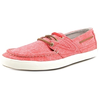 Tretorn Otto Linen Men Round Toe Canvas Red Sneakers