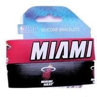 Miami Heat Rubber Wrist Band (Set Of 2) Nba