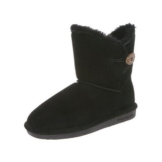 Bearpaw Boots Womens Rosie Toggle Cow Suede Sheepskin 1653W