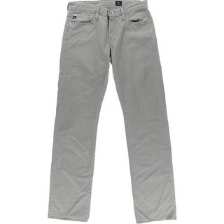 Adriano Goldschmied Mens The Protege Mid-Rise Solid Straight Leg Jeans