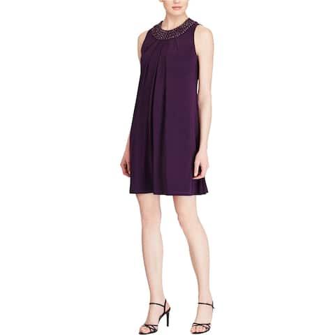 American Living Womens Beaded Neck Jersey Dress