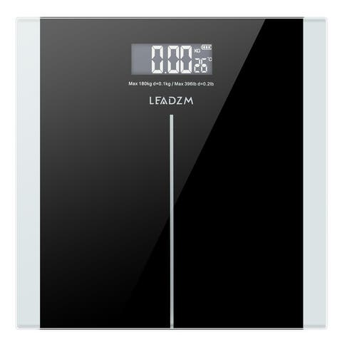 180Kg/50g Body Fat Scale Smart 6/8mm Tempered Glass with Step-On Technology