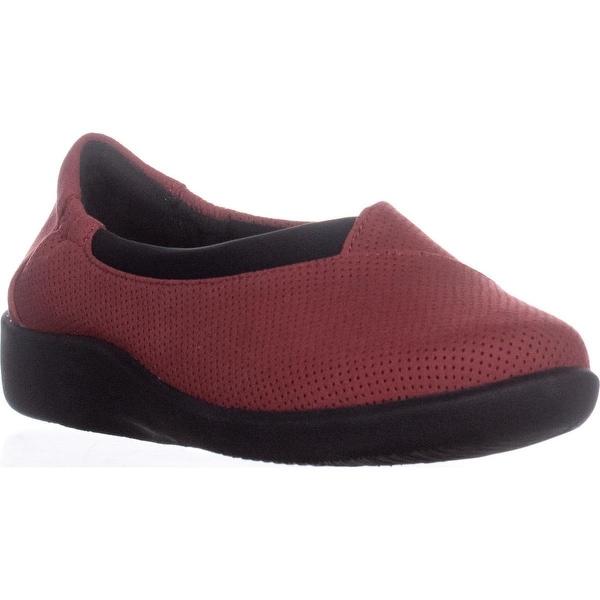 Clarks Sillian Jetay Slip On Comfort Loafers, Red Textile - 7 us / 37.5 eu