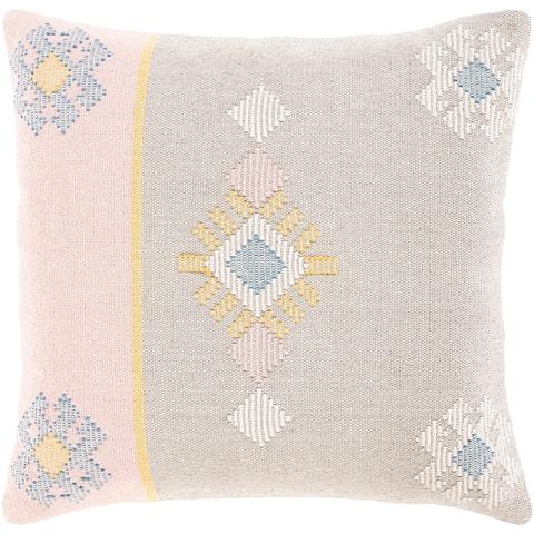 Xenia Hand Woven Pastel Boho Throw Pillow