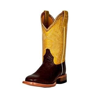 Cinch Western Boots Womens Cowboy Elephant Print Chocolate CEW509