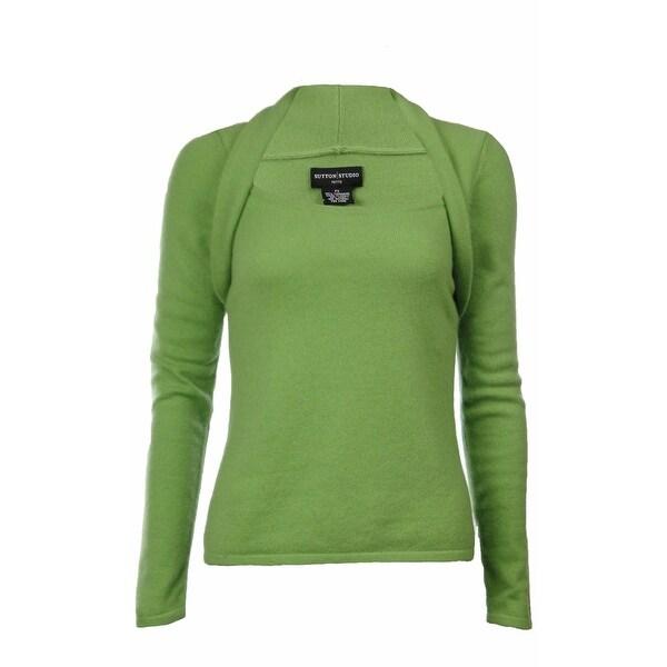 ed885fe23d8 Shop Sutton Studio Women s 100% Cashmere Shrug Neck Sweater - Free ...