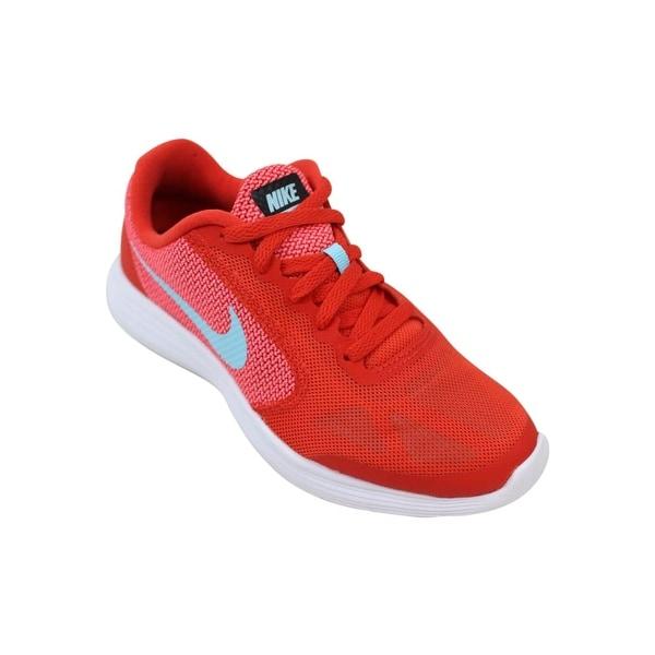 Shop Nike Grade School Revolution 3 Max OrangeStill Blue