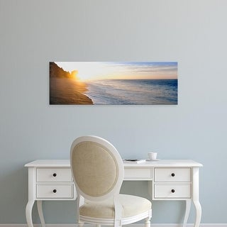 Easy Art Prints Panoramic Images's 'Sunrise over the beach, Land's End, Baja California Sur, Mexico' Canvas Art