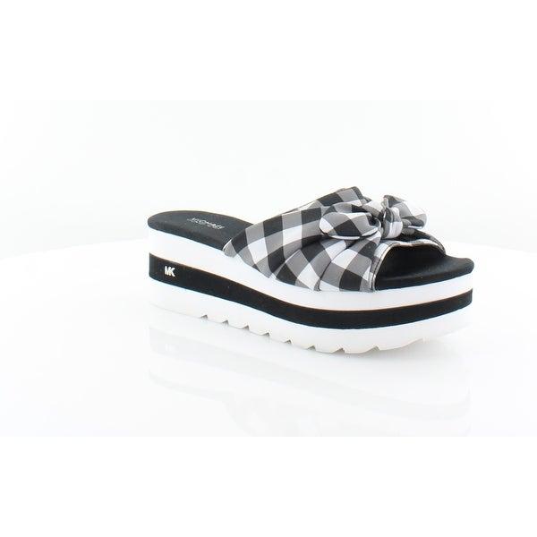 52eb13067b Shop Michael Kors Pippa Slide Women's Sandals Blk/Wht - 7 - Free ...