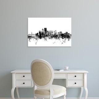 Easy Art Prints Michael Tompsett's 'Portland Oregon Skyline' Premium Canvas Art